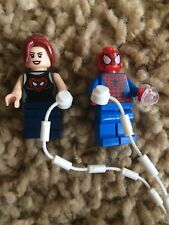 Lego 76016 Super Heroes Mary Jane Ultimate Spider Shirt Spiderman Minifigs Lot
