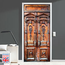 Vintage Wooden Door - Self-adhesive Door Mural - Designed and Made in UK