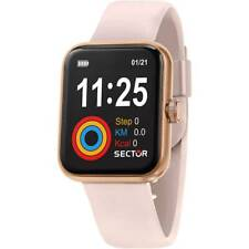 Orologio Sector S-03 r3251282002 smartwatch Silicone Rosa Oro Rettangolare Donna