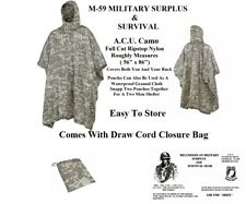 "Poncho - Lightweight Ripstop A.C.U. Camouflage - Roughly measures  84"" x 53"""