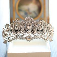 Bride Wedding Crystal Rhinestone Queen Crown Hair Accessories Jewelry Prom Tiara