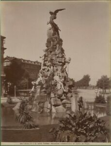 TORINO.Monum. traforo del Frejus.Foto Alinari fine 1800