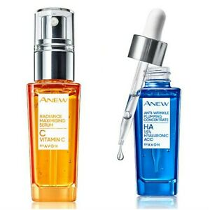 Avon Anew Vitamin C Serum and Plumping Concentrate with Hyaluronic Acid