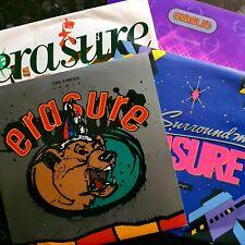 """4 x Erasure 7"""" - Abba-Esque / You Surround Me / The Circus / Sometimes"""