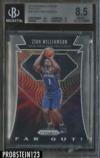 2019-20 Panini Prizm Far Out! #24 Zion Williamson RC Rookie BGS 8.5 NM-MT+