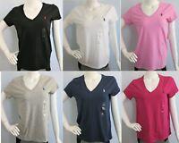 POLO RALPH LAUREN Sport Women's Short Sleeve V-Neck Pima Cotton T-Shirt