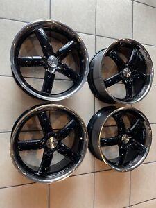 """19"""" Gloss Black/ Polished Lip Wheels / Mercedes-Benz CLA 250"""