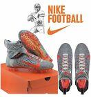 Nike Alpha Menace Elite 2 Flyknit Football Cleats Grey AO3374-100 Size 12 US