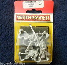1993 chaos animal command group seigneurs & héros citadel warhammer beastmen mib