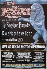 ROLLING STONES, SMASHING PUMPKINS, DAVE MATTHEWS 1997 DFW, TEXAS CONCERT POSTER