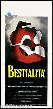 BESTIALITA' LOCANDINA CINEMA FILM DE SETA SALERNO STALLER 1976 PLAYBILL POSTER