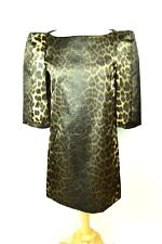 Thomas Wylde Dress Leopard Print Long Sleeve Size 2 NWT $1710