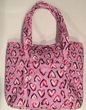 Vera Bradley VERA TOTE Hearts Iced Pink Shoulder Toggle Bag FREE SHIPPING 15822