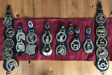 Joblot Of Horse Brasses On leather X 8