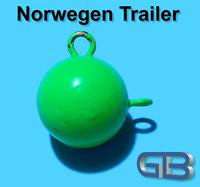 Norwegen Trailer, 25g 40g 50g 75g 100g Sea Trailer, Kugelblei mit Öse