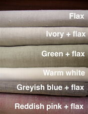 SAMPLE - Medium heavy linen fabric Japanese natural flax with colour interwoven