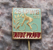 1973 WBP International Bicycle Peace Bike Race Rude Pravo Cycle PBW Pin Badge
