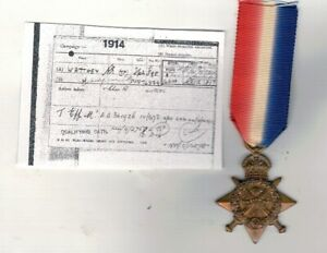 WW1.1914 STAR. TO 898.DVR. WATTHEY. R.E. & CHESHIRE REGIMENT,also entitled .t.e.