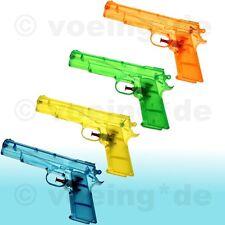4x Wasserpistole Wasser-Pistole Spritzpistole Kanone Transparent Klassiker 20 cm