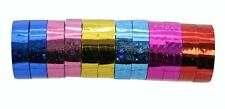 Stars Hula Hoop Washi Prism Tape (12 Pack) 12Mm x 45 Feet - 6 Holographic