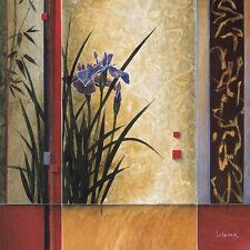 "35""x35"" GARDEN GATEWAY by DON LI-LEGER ASIAN IRIS CANVAS"