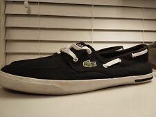 Lacoste Ramer Boat WJA Shoes BLACK Mens size 13
