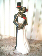 Halloween Skeleton Bride and Groom Statuette Figurine Love Never Dies Dwk