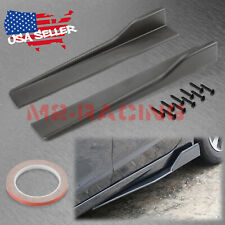 Matte Black Universal Car Side Skirt Extension Splitters Winglet Wing Canard