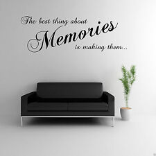 MAKING MEMORIES Wall Art Sticker Lounge Quote Decal Mural Transfer WSD519