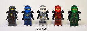 Lego Ninjago Hands Of Time Minifigures Lot Lloyd Cole Jay Kai Zane Black Armor