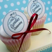 12 Christening   Birthday   Name   Cake Cupcake Toppers   Parties    Rice Paper