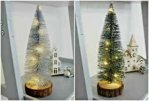 20 30cm Small Mini Christmas Tree With LED Lights Ornaments  Tabletop Artificial