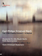 Carl Philipp Emanuel Bach: The 1786 Charity Concert  A Revival, New DVDs