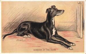 Early   GREYHOUND  MAC  Lucy Dawson  Dog Postcard