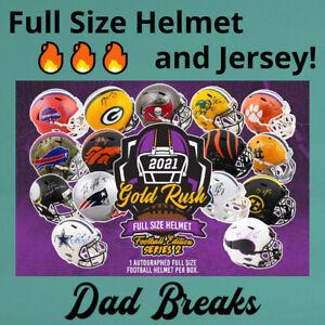 NEW ENGLAND PATRIOTS autographed Gold Rush Full-Size Helmet + Jersey 2 BOX BREAK