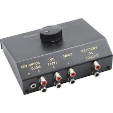 audio umschalter manuell 4-fach cinch und 3,5mm klinke