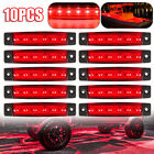 Red 10 Pods LED Rock Lights For Jeep Offroad Car Truck ATV Boat Underbody Light