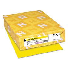 NEENAH PAPER Exact Brights Paper 8 1/2 x 11 Bright Yellow 50lb 500 Sheets 26701