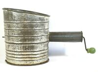 Vtg BROMWELL'S FLOUR Sifter RARE Design Hand Crank Through Handle WOW!