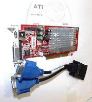 WINDOWS 7 DUAL MONITO 8X AGP Video Card. 128MB  2x-VGA Cable. Radeon ATI 9600 XT