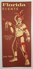 Vintage Travel Brochure Florida Events June 1966 Exhibitions Festivals Sports