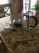 Starbucks Barista Bodum 8 Cup French Press Glass and Stainless