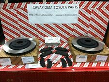 2008-2016 TOYOTA HIGHLANDER OEM GENUINE FRONT BRAKE ROTORS PAD KIT & SHIM KIT