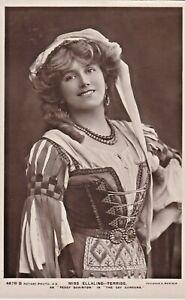 "MISS ELLALINE-TERRISS as ""peggy quaintor in 'THE GAY GORDONS"" 1900s postcard"