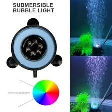 LED Color Changing Fish Tank Air Stone Aquarium Submersible Bubble Pond Light