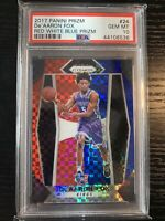 2017-18 PANINI PRIZM DE'AARON FOX RED WHITE BLUE PSA 10 GEM MINT ROOKIE RC KINGS