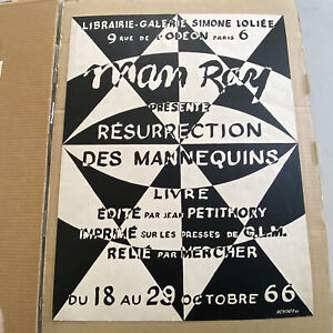 Man Ray Presente Resurrection Des Mannequins 1966 French Exhibition Poster