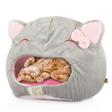 Cat Shape Cave House Bed Cushion Pad Kennel for Dog Pet Puppy Soft Cozy Grey New