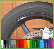 8x DYMAG Felgen Aufkleber Sticker kohlefaser lightweight magnesium 16.5 17 räder