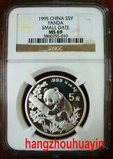 1995 1/2oz small date silver panda coin S5Y NGC MS69